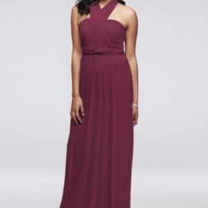 David's Bridal Versa Convertible Mesh Dress